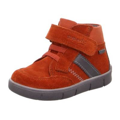 Basket Superfit cuir daim orange