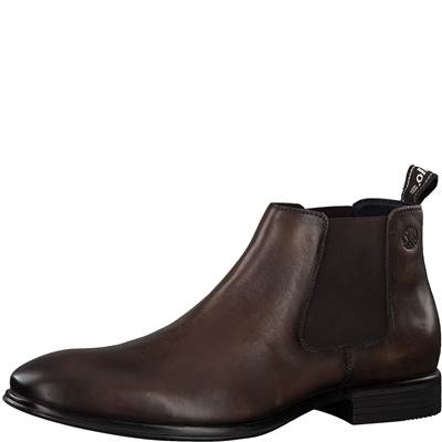 Boots Chelsea S'Oliver cuir cognac