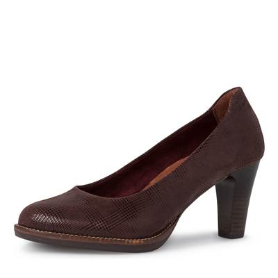 Escarpin Tamaris cuir marron