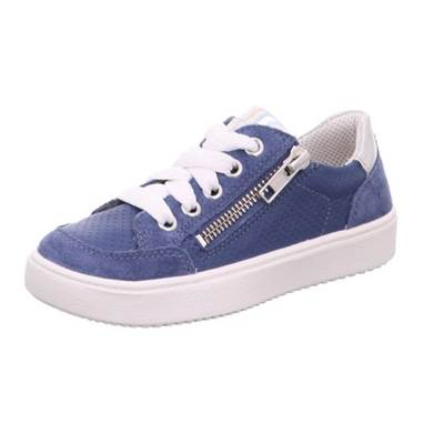 Basket Superfit cuir daim bleu